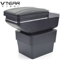 Vtear For Skoda Octavia A7 armrest box central Store content box with cup holder interior products interior accessories parts