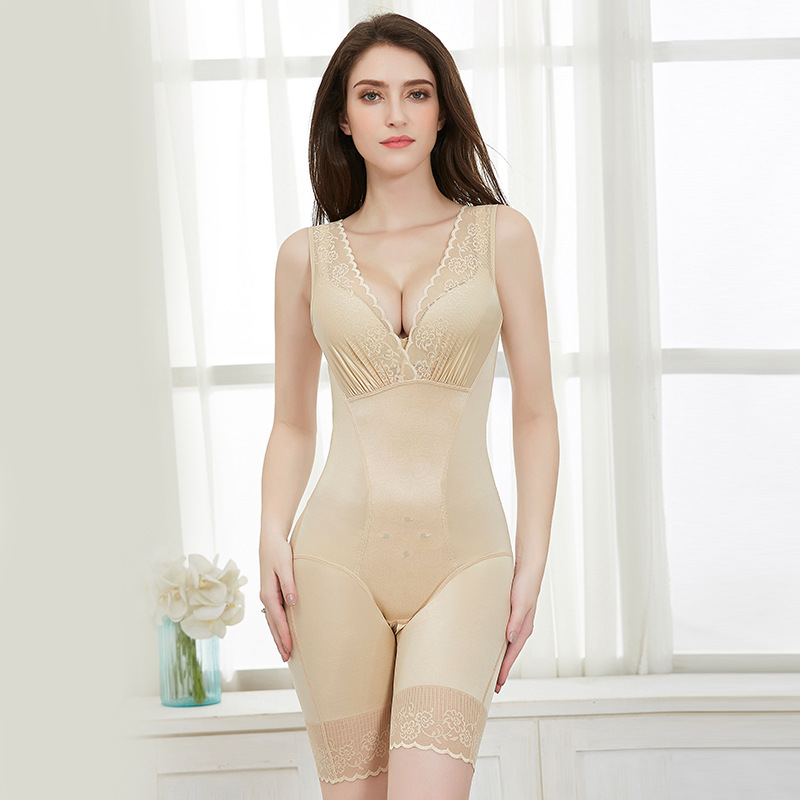 Beauty G meter body corset genuine abdomen postpartum one piece clothes warm palace body body corset underwear No trace in Bodysuits from Underwear Sleepwears