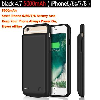 5000mAh Battery Case for iPhone 6 s 6s 7 8 Power Bank Charing Case Charger Case Cover Ultra Slim External Back Pack