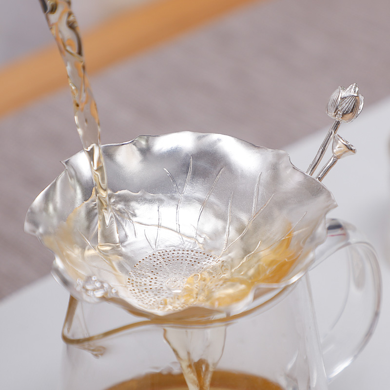 Lotus Frog Tea Leak New Sterling Silver 999 Tea Ceremony Accessories Kung Fu Tea Set Tea Filter Lotus Tea Filter