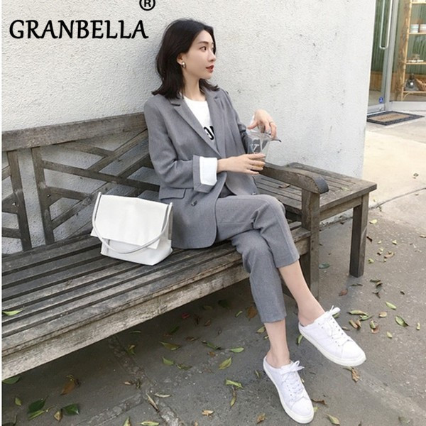 New Fashion Professional Women Suit Small Suit Trousers Two Suits Casual Dress British Style  Clothing Korean Female