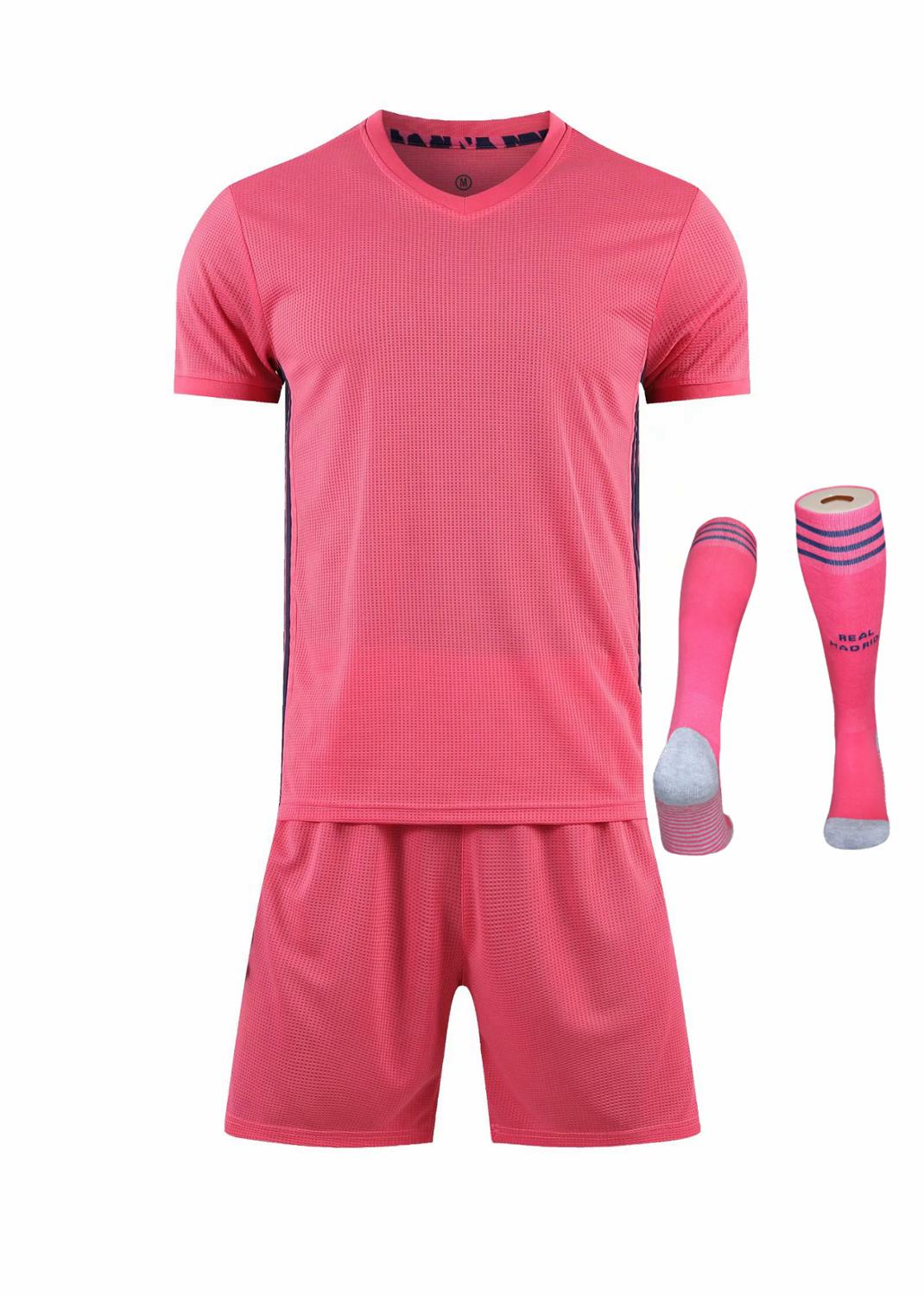 Children Sets football uniforms boys and girls sports kids youth training suits blank custom print soccer set with socks 25