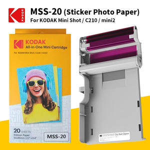 Paper Photo-Printer KODAK Mini No Leverage-4pass Ink-Sticker Cartridges-Set Package Shot