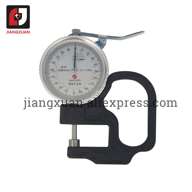 SHANG SHEN Mechincal Thickness Meter 0-1mm (0.001mm) Dial Thickness Gauge For Paper Film Adhesive Tape Fabric