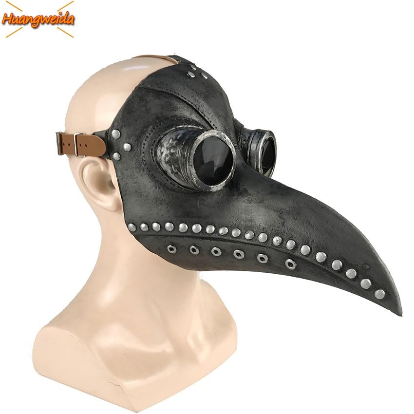 Plague Doctor Halloween Cosplay Costumes Masks Steam Punks Beak Mask Cosplay Beak Doctor Halloween Masks Beak Prop
