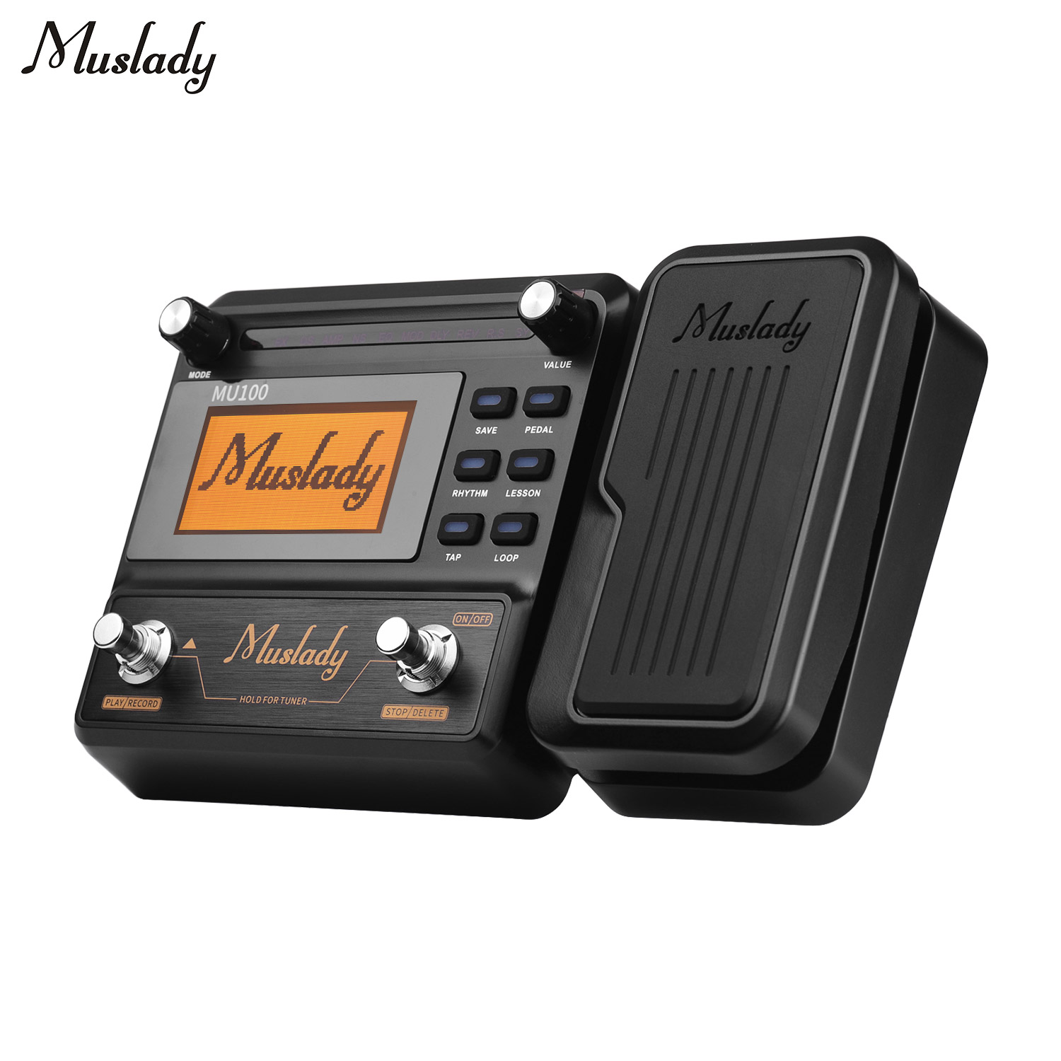 Muslady MU100 Quality Guitar Multi-effects Processor Guitar Effect Pedal Supports 180s Loop Recording Time Instrument Parts