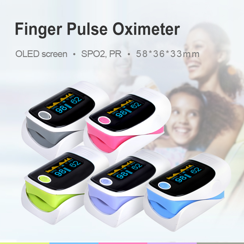 Medical Portable Finger Pulse Oximeter Blood Oxygen Heart Rate Saturation Meter OLED Oximetro De Dedo Saturometro Monitor