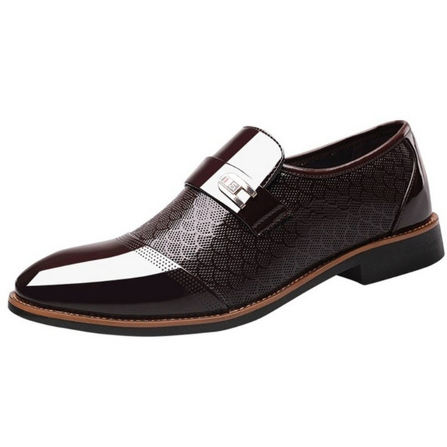 Italian Black Formal Shoes Men Loafers Wedding Dress Shoes Men Patent Leather Oxford Shoes For Men Chaussures Hommes En Cuir 3