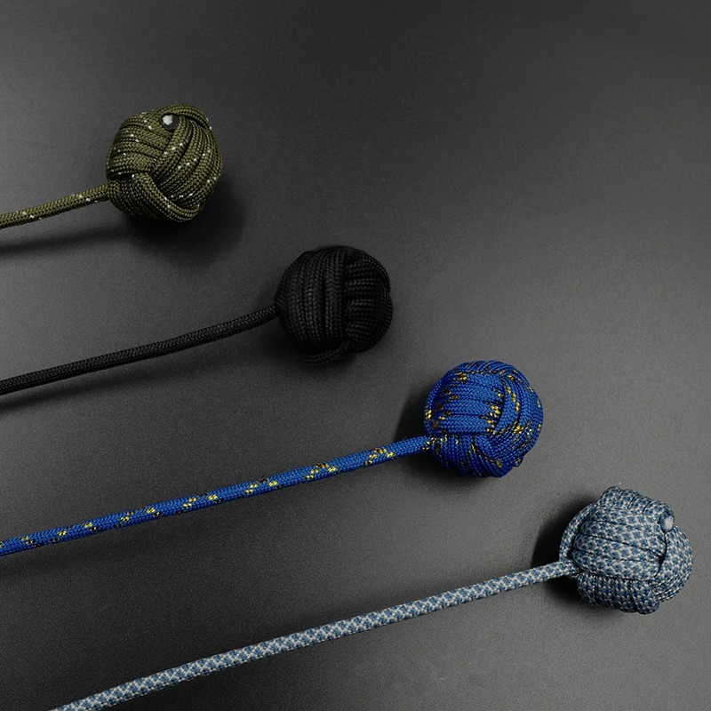 Fidget-Toy Begleri Worry-Beads Stress Paracord Electroplating Finger-Skill Steel-Ball img5
