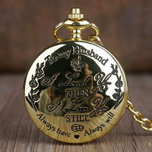 Pocket-Watches Chain Quartz Great-Gift Husband Lover To My Fashion FOB for Casual