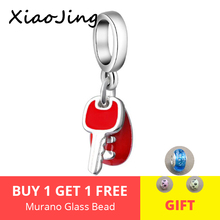 New arrival diy car key with red enamel charms 925 Silver beads Fit Authentic pandora Charm bracelet fashion jewelry for gifts 2018 new 925 sterling silver red enamel bikini charms beads fit authentic pandora bracelet charms beads jewelry for women gifts