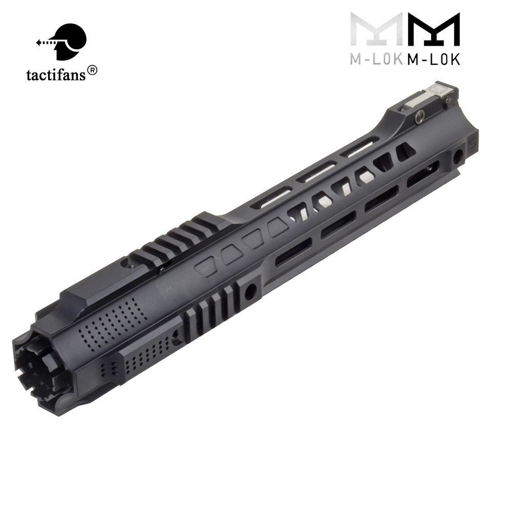 2020 New Free Float Picatinny Rail 14 17 Handguard M-LOK With Jailbrake Muzzle For Airsoft AEG GBB Hunting Tactical Accessories