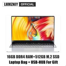 LHMZNIY RX-2 15.6 inch office laptop IPS Screen Intel 3867U Dual-core 16GB DDR4 RAM 512GB M.2 SSD camera studen game notebook