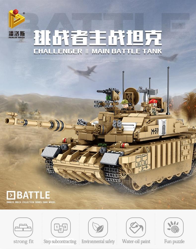 Военная модель боевого танка Challenger 2, строительный блок, совместимая с lego technology WW2, модель армейского солдата, игрушки для мальчиков