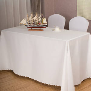 10pcs Rectangular Tablecloths Hotel Banquet Wedding Table Cloth Party Home Decoration