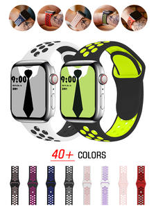 Strap for Apple watch band 40mm 44mm/42mm/38mm Accessories Silicone belt Sport bracelet