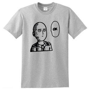 One punch man OK Men's T-shirt 100% cotton anime shirt Printed men T shirts Fashion male Tshirt Funny t-shirts Japan