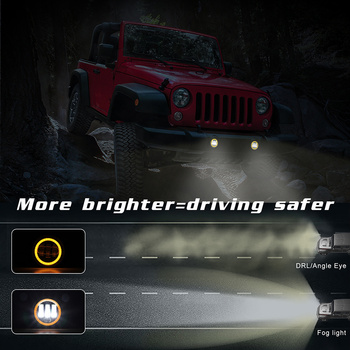 Hot 2pcs 30W 4in LED Fog Lights Headlights Front Bumper Lamp for Truck Off-road Vehicle X66