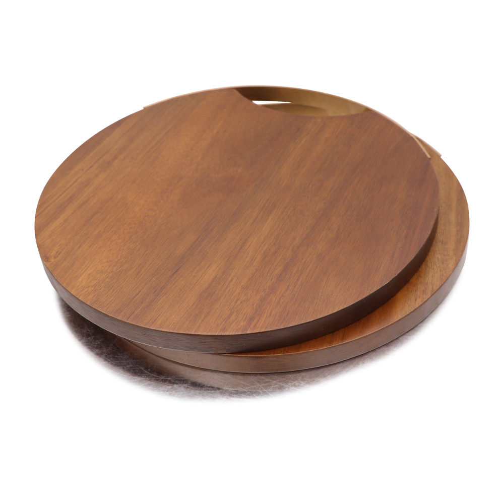 Jaswehome Acacia Wood Chopping Blocks Kitchen Wood Food Plate Wooden Pizza Sushi Bread Whole Tray Cutting Board Cheese Boards