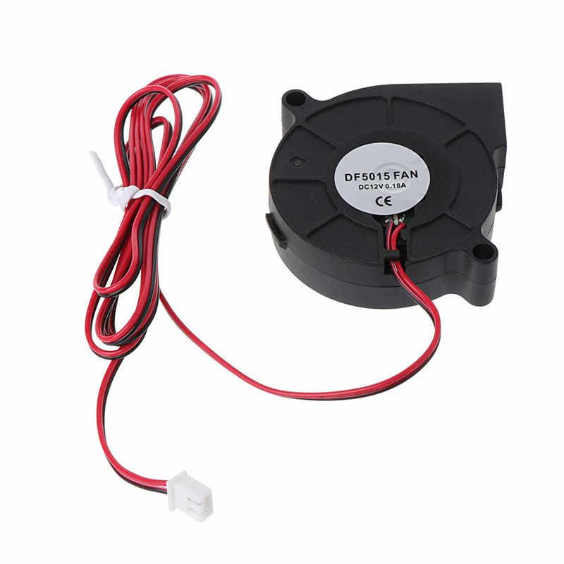 1Pc 12V DC 50mm golpe Radial ventilador de refrigeración hotend extrusora para RepRap 3D impresora accesorios enfriador de ventiladores de alta calidad C26