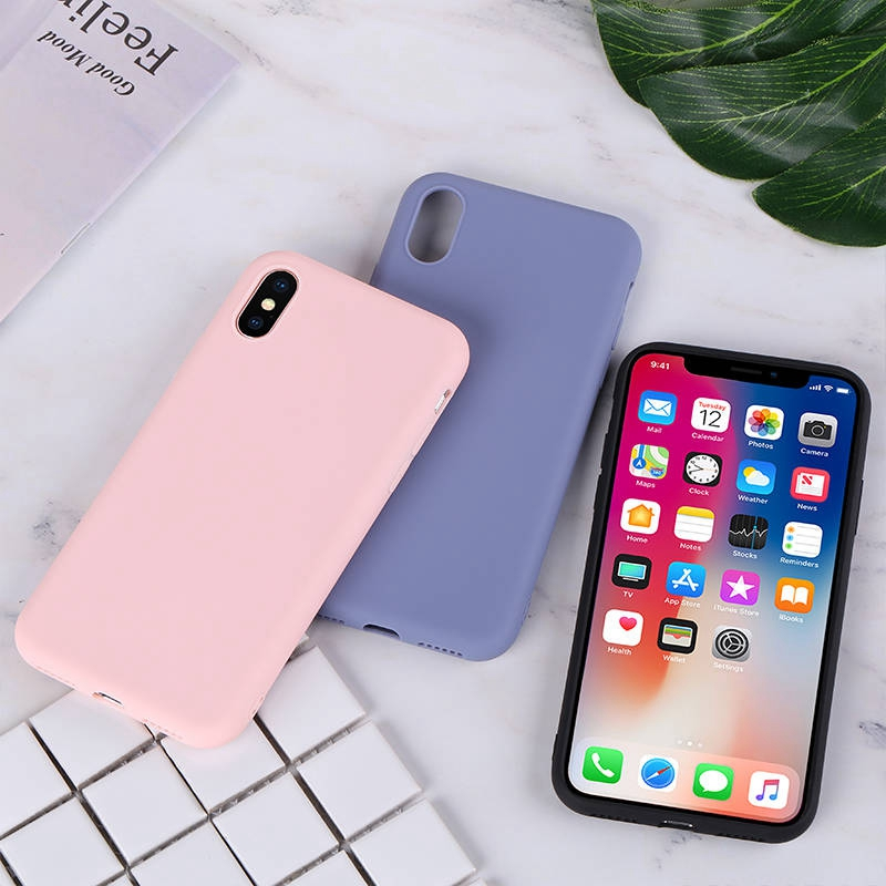 Silicone-Case-For-iPhone-11-Pro-Max-Case-Soft-TPU-Back-Matte-Color-Phone-Cases-For(2)