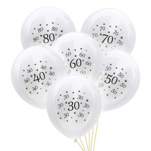 10 pièces ballons d'anniversaire 30 40 50 60 70 80 ans décorations de fête d'anniversaire adulte ballon anniversaire Air balles fournitures de fête