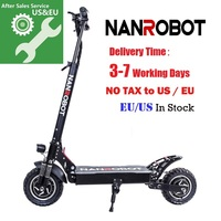 NANROBOT D4+ Upgraded Adult Electric Scooter 10 52V 18/23.4Ah 2000W Motor Powerful 45 Miles and 40 MPH 2 Wheel kick e Scooters
