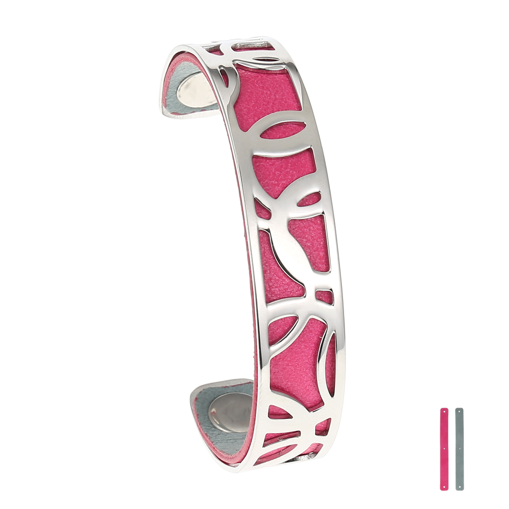 Legenstar Bracelet&Bangle For Women 14 Mm Lily Cuff Bangle Stainless Steel DIY Jewelry Leather Bijoux Manchette Pulseiras