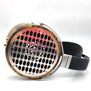 Image 3 - 105mm גדול אוזניות דיור פתוח סוג אוזניות אוזניות DIY מותאם אישית עץ אוזניות פגז מקרה