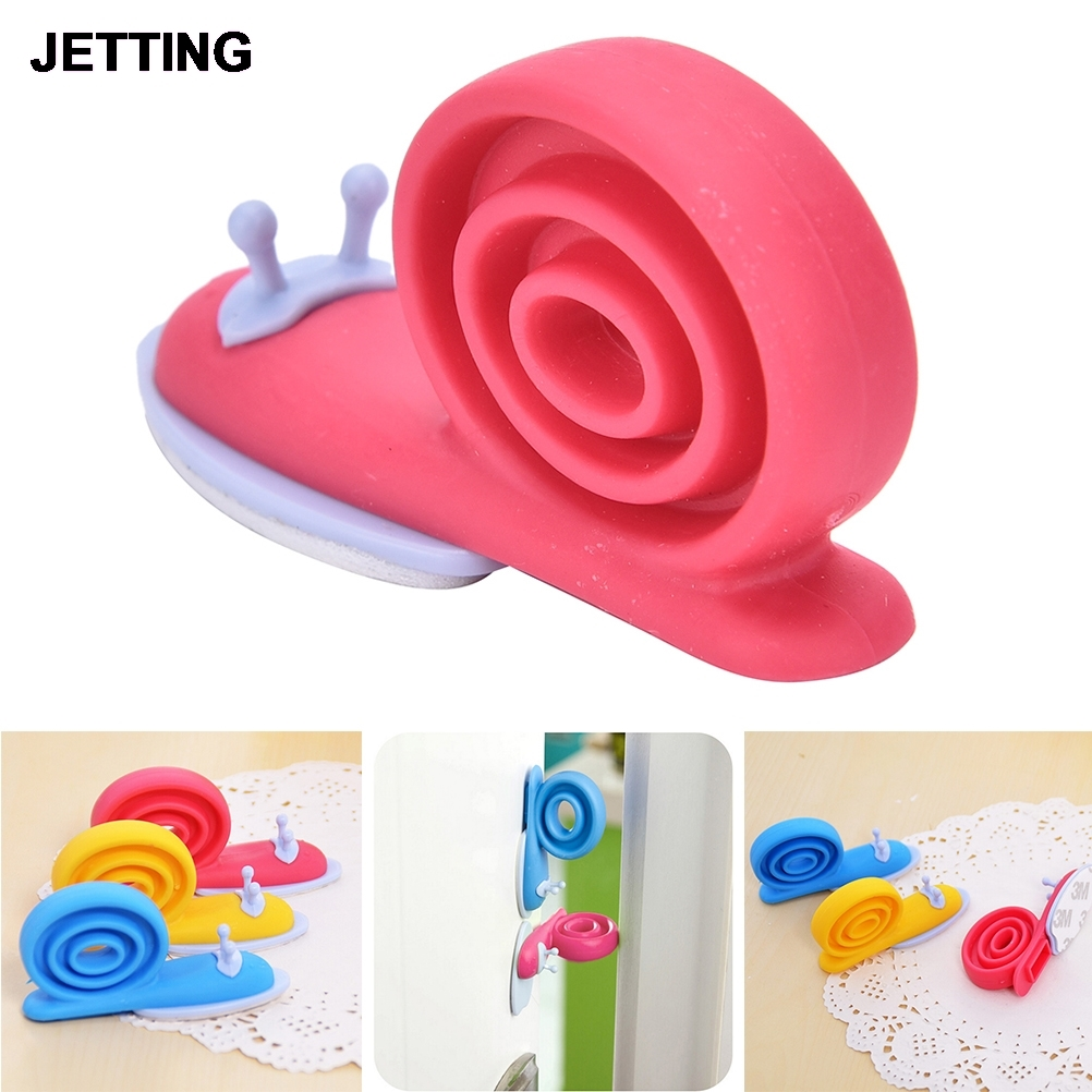 1pcs Cute Snail Animal Shaped Silicone Door Stopper Wedge Holder For Children Kids Safety Guard Finger Protector