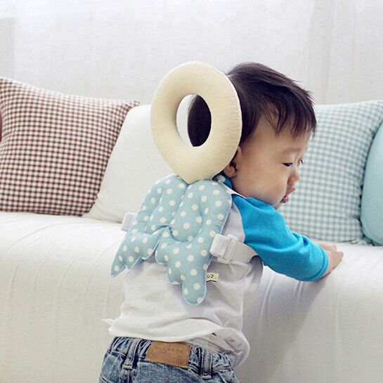 Baby Infant Toddler Head Back Protection Safety Pad Harness Headgear Headrest Cotton Soft Edge Guards Safty Protector