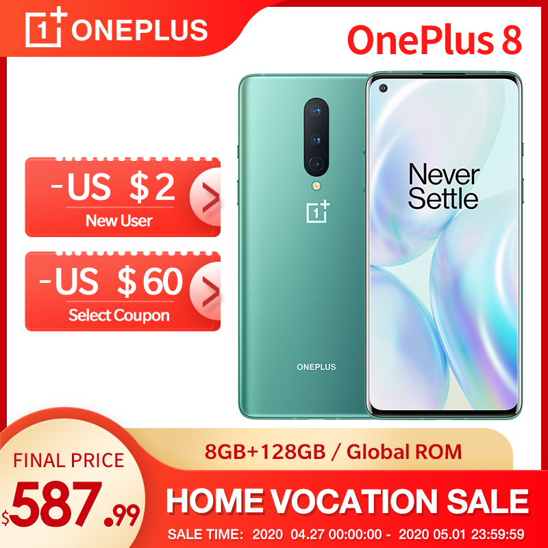 In Stock New OnePlus 8 5G Global Rom Snapdragon 865 90Hz 6 55 Fluid AMOLED 4300