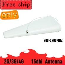 15dBi โทรศัพท์มือถือสัญญาณ Booster เสาอากาศ GSM 3G 4G LTE LOG ธาตุเสาอากาศภายนอกสำหรับ GAIN 700  2700 MHz Repeater