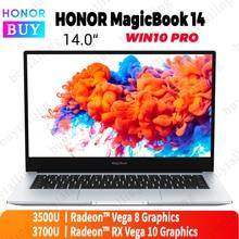 HUAWEI HONOR MagicBook 14 حاسوب محمول 14 بوصة AMD Ryzen r5 3500U/r7 3700U 8 جيجابايت/16 جيجابايت RAM 512 جيجابايت SSD Radeon Vega 8/Vega 10 IPS
