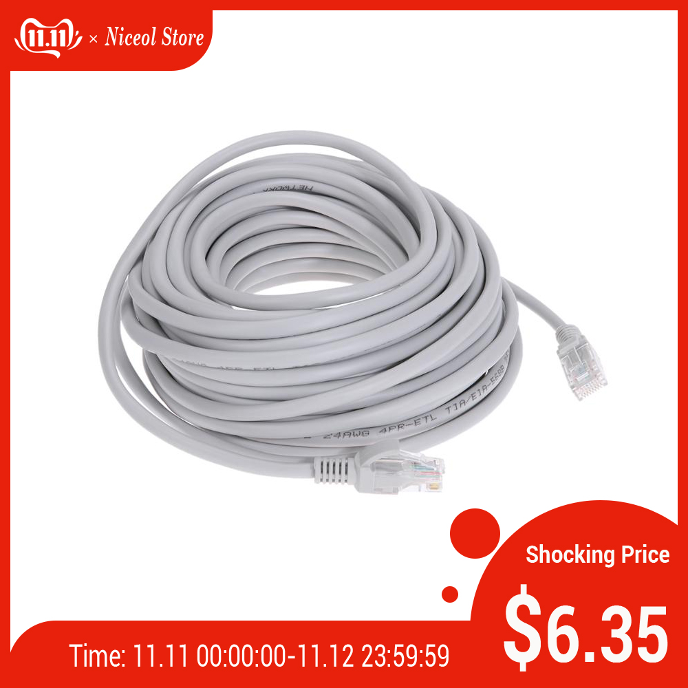 Cat5e Ethernet Cable High Speed RJ45 Network LAN Cable Router Computer Superconducting Alloy Netweoking Cable 15m/20m/25m/30m