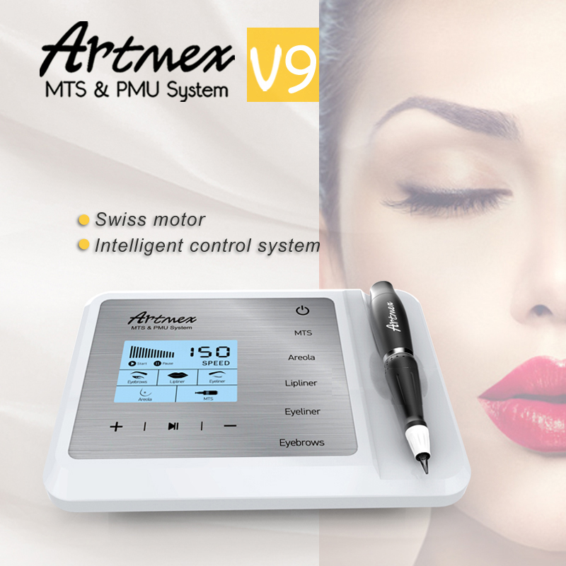 Permanent Make Up Machine Artmex V9 With Cosmetic Digital Tattoo Pen