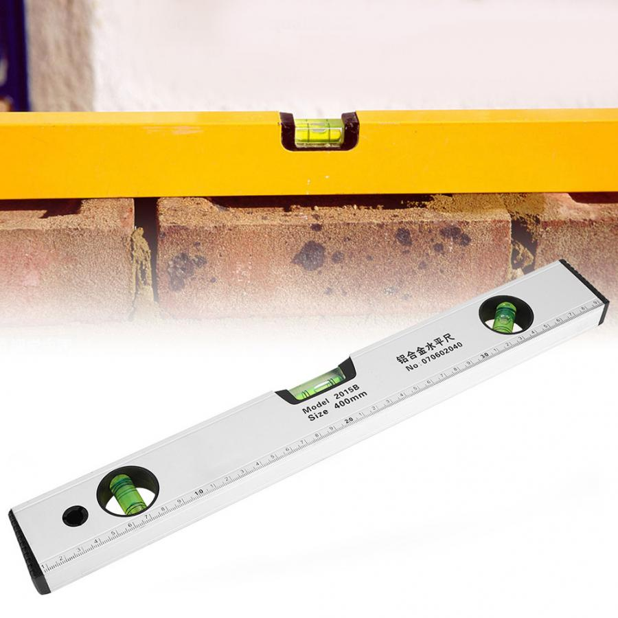 400mm Spirit Level Tool High Accuracy Magnetic Aluminum Alloy Bubble Ruler Spirit Levels Construction Tools Best Price