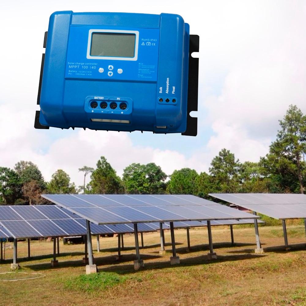mppt 40a 50a 60a 70a 80a controlador de carga da bateria solar lcd 12v 24v regulador