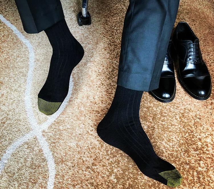 Men's Socks Male Formal Dress Black Socks Men's Business Socks Sexy Men's Dress Socks Breathable Men's Cotton Socks