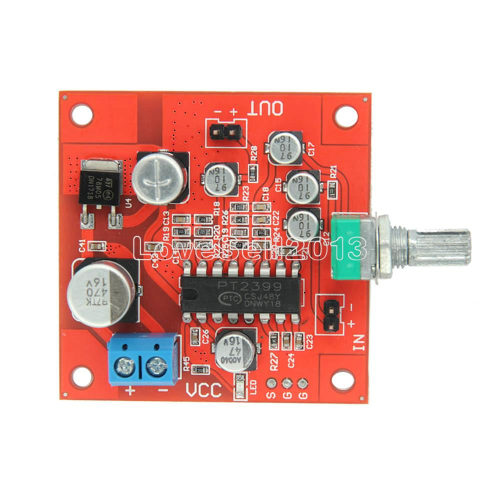 1Pcs PT2399 Microphone Reverb Plate Reverberation Board No Preamplifier AMP Function Module