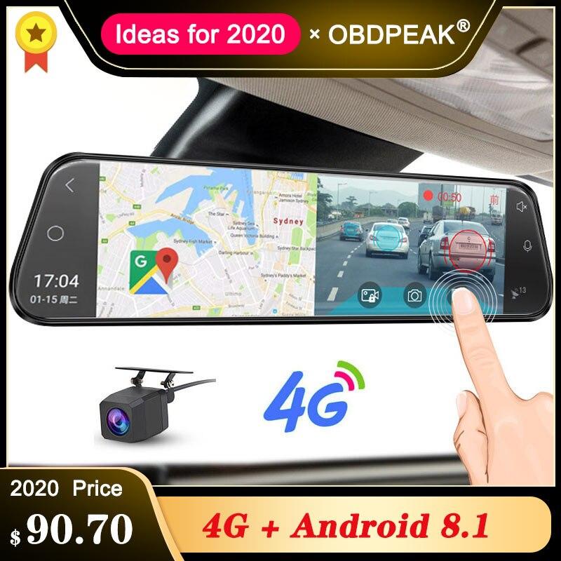 """4G Auto DVR 10 """"Android 8,1 Stream Rückspiegel FHD 1080P ADAS Dash Cam Kamera Video Recorder auto Kanzler Dashcam GPS DVRS"""