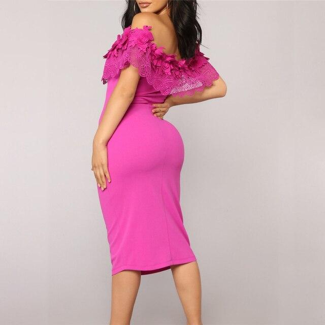 Elegant Off Shoulder Lace Dresses 4