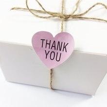 100 unids/lote kawaii Rosa gracias pasta de sellado de papel de regalo pegatinas de corazón etiquetas