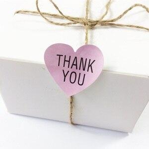 100 Pcs/lot kawaii Pink THANK YOU Sealing Paste DIY Gift Wrap Decorative Stickers Heart Labels Seals