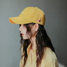 купить Fashion Student Baseball Cap With Embroidery Pattern Letter Casual Solid Color Hat For Men And Women Tide Caps Four Seasons Wild дешево