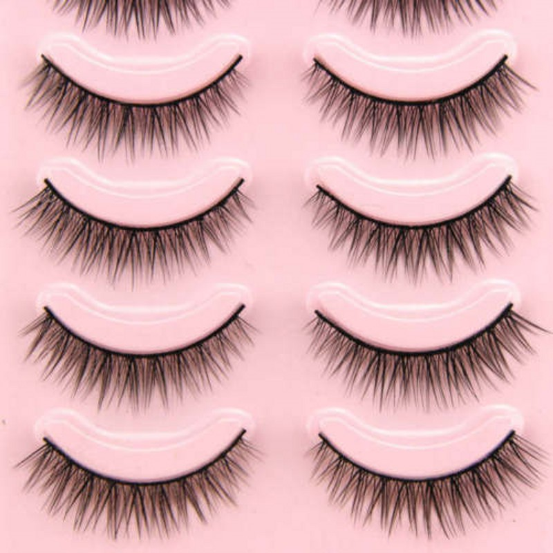 Image 5 - 2019 Hot 5 Pairs Popular Natural Short Cross False Eyelashes Daily Eye Lashes Girls Makeup Necessaries Wimper Extensiofor-in False Eyelashes from Beauty & Health