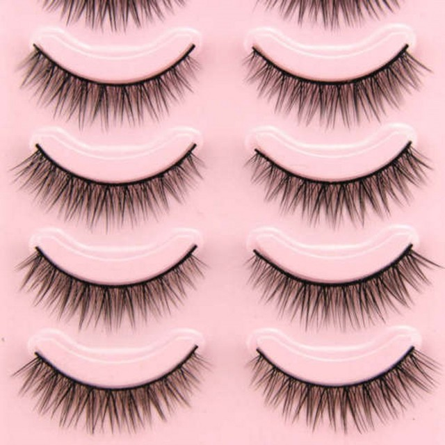 2019 Hot 5 Pairs Popular Natural Short False Eyelashes Daily Eye Lashes Girls Makeup Necessaries Wimper Extensiofor 5