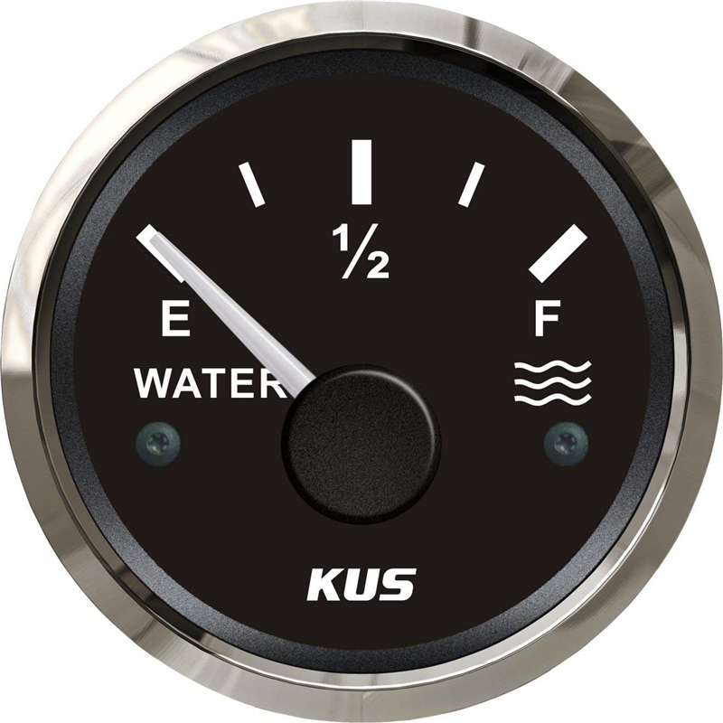 1Pc indicateurs de niveau d'eau 52mm jauges de niveau d'eau 12 V/24 V pour bateau Automobile camping-cars pièces universelles Yacht noir
