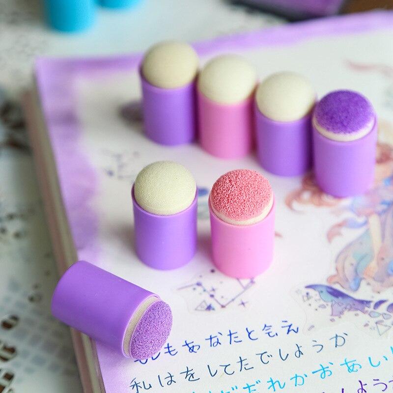 1 PC Color Finger Sponge Dauber Art Supplies Painting Tools Inkpad Finger DIY Journal Diary Photo Album Decoration Card Making