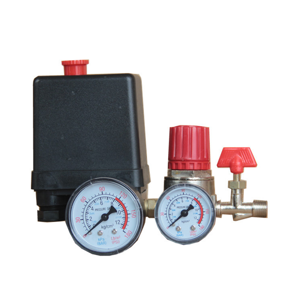 90 120PSI Universal Motor Driven Practical Safety With Gauges Pressure Control Switch Air Compressor Pump Regulator Accessories-in Pneumatic Parts from Home Improvement